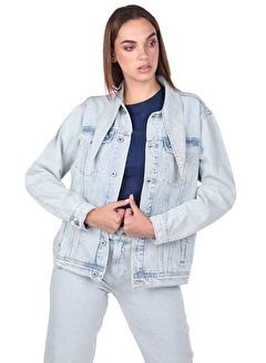 BLUE WHİTE Kadın Jean Ceket